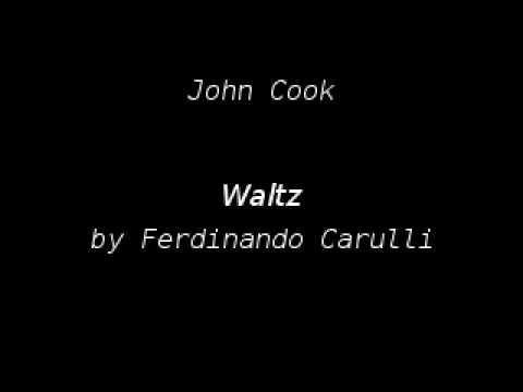 Thumbnail of YouTube video: John Cook playing Waltz by Ferdinando Carulli (using Zoom H4n)