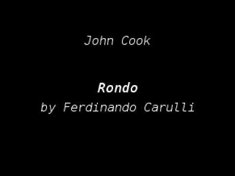Thumbnail of YouTube video: John Cook playing Rondo by Ferdinando Carulli